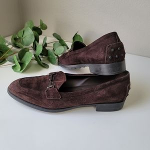 Tods suede horsebit driving loafer shoes Tod's